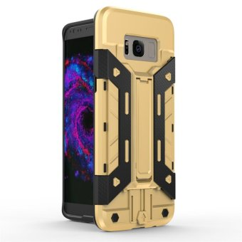 Harga for Samsung Galaxy S8 [X-Armour] Kickstand Holder + Card Storage Slot Armor Cell Phone Case PC & TPU Hybrid Back Cover - intl
