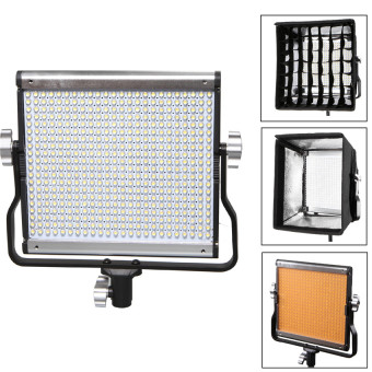 Harga Selens Portable Ultra-thin Slim GE-500 5600K Dimmable Daylight LED Video Camera Light Panel + Softbox Diffuser Honeycomb Grid Kit