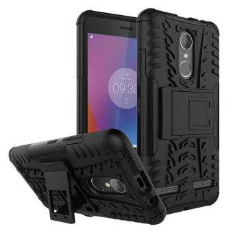 Harga BYT Rugged Dazzle Case for Lenovo K6 with Kickstand (Black)