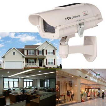 Solar Power Dummy Home Outdoor Dome Fake Security Surveillance LED Camera - intl Price Philippines