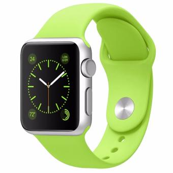 Harga Silicone 38mm Sports Watch band Bracelet Strap for Apple Watch Series 1 2 (Green)