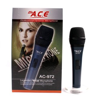 Harga Ace AC-972 Professional Uni-directional Dynamic Legendary Vocal Wired Microphone (Blue)