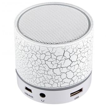 Harga S-10 Mini LED Bluetooth Speaker (White)