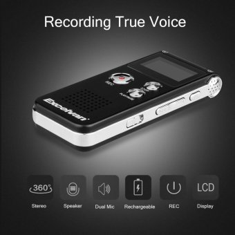Harga Excelvan R28 Digital Voice Recorder 8g(Black) - intl