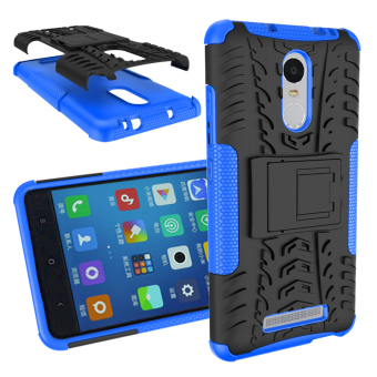 Harga BYT Rugged Dazzle Case for Xiaomi Redmi Note 3 / Redmi Note 3 Pro with Kickstand (Blue)