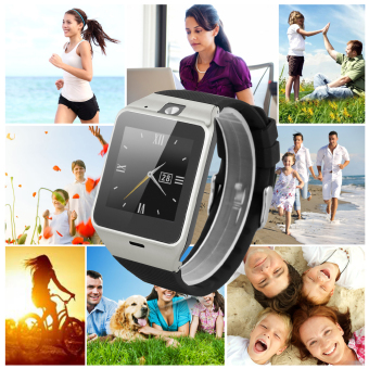 Harga Excelvan GV18 Smart Watch SIM Phone Watch for Android IOS(Black)