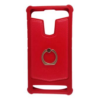 Harga FCH Bumper Silicone Back Cover Case with Ring for ZTE AXON Elite (Red)