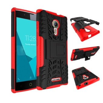 Harga BYT Rugged Dazzle Case for Alcatel One Touch Flash 2 with Kickstand (Red)