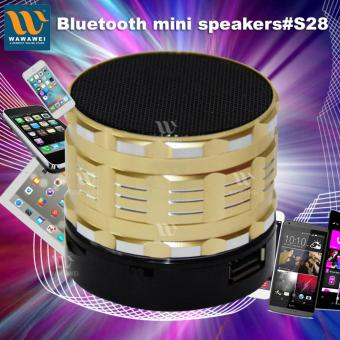 Harga Wawawei Rechargeable Mini Bluetooh Speaker #33229 (Gold)