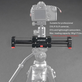 Andoer V2-370 Compact Retractable Track Slider 37cm Rail Shooting Video Stabilizer - intl Price Philippines