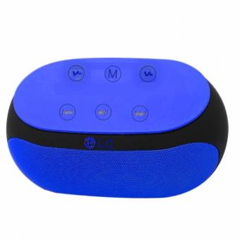 LC-168 Hi-Fi Wireless Portable Bluetooth Speaker with TF/AUX SlotUSB slot and FM (Blue) with Free LC-51 Innovation Smart Magnets Headphones (Black) Price Philippines