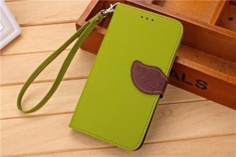 Harga Leaves Buckle Flip Leather Wallet Case For Xiaomi Redmi Note 3 (Green) - intl