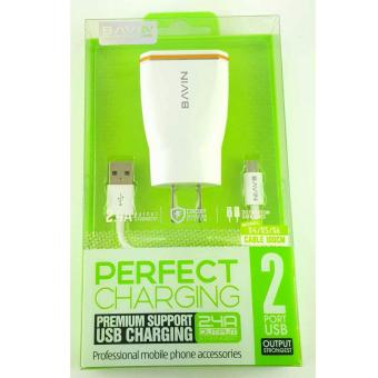 Bavin 2 Port Charger for Samsung S4/S5/S6 Price Philippines