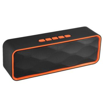 LC Excellent LC-209 Mini Portable Bluetooth Dual Speakers Ultra Bass (Orange) Price Philippines