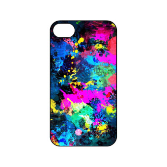 Harga PlanetCases Paint Splatter Hard Case for Iphone 4 4/s (Multicolor)