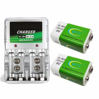jiabao 4 Slot Quick Charger with LED Indicator for AA/AAA /9v with Free 2 Pieces Rechargeable Battery 9v Price Philippines