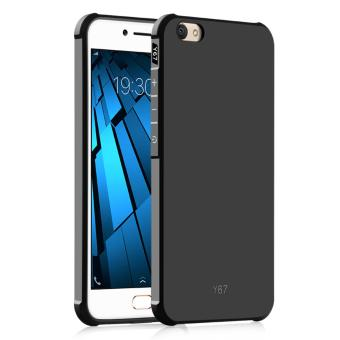 Harga Fashion Silicone Back Cover Case For VIVO V5 / VIVO Y67 (Black) - intl