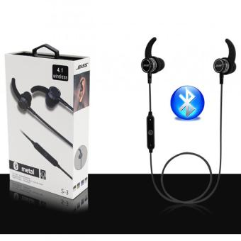 BASS S-3 Bluetooth 4.1 Metal Wireless Sport Headset (Black) Price Philippines