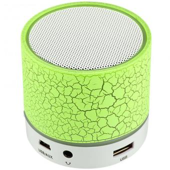Harga S-10 Mini LED Bluetooth Speaker (Green)