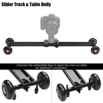 "Andoer 60cm/23.6"" 4 Wheels Soundless Aluminum Alloy Video Rail Track Skater Slider Dolly Table Car Stabilizer Max. Load 6kg/13.2Lbs for Canon Nikon Sony DSLR Camera Camcorder DV Outdoorfree - intl Price Philippines"