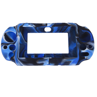 Harga RIS Silicone Case for Sony PlayStation PS Vita 2000 Navy with (Black/Blue)