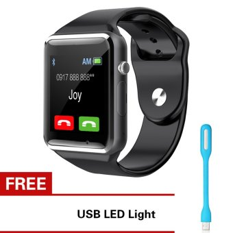 KingDo A1 Bluetooth Smart Watch (Red) with Free LED Light Price Philippines