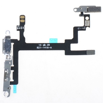 Power Button Switch On/Off Flex Cable Metal Bracket Assembly For iPhone 5 5G- - intl Price Philippines