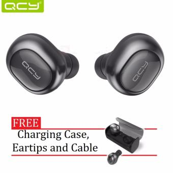 QCY Q29 Music and Call Bluetooth Twin Earbuds (Dark Gray) Price Philippines
