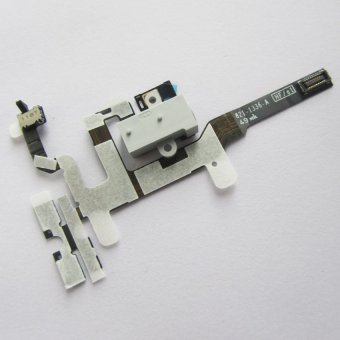 Headphone Audio Jack Ribbon Volume Power Flex cable for iPhone 4S (Black) Price Philippines