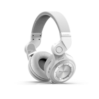 Harga Original Fashion Bluedio T2 Turbo Wireless Bluetooth 4.1 Stereo Headphone Noise canceling Headset with Mic High Bass Quality White - intl