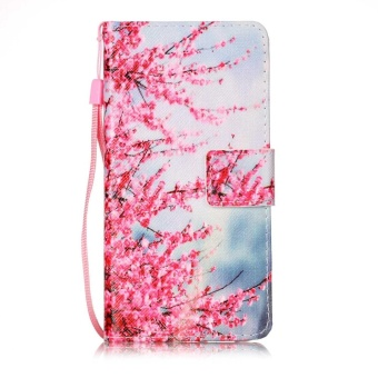 Printed lanyard Flip Leather Case For Apple iPhone 6 Plus / 6s Plus(Plum blossom) - intl Price Philippines