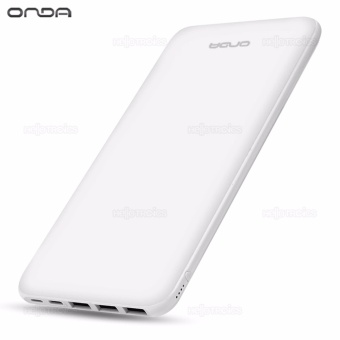 ONDA N200T 20000 mAh Triple Thin Portable External Battery Power Bank (White) Price Philippines