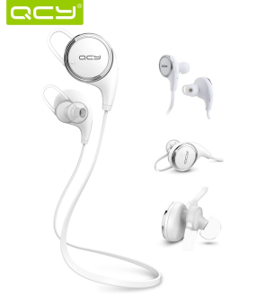 QCY QY8 Original Sports Wireless Bluetooth Headset with HD Microphone (White) Price Philippines