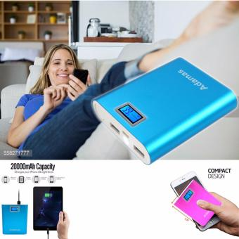 Harga Adamas ADP-955 Universal Flashlight Digital 20000mAh Smart Powerbank (Blue)