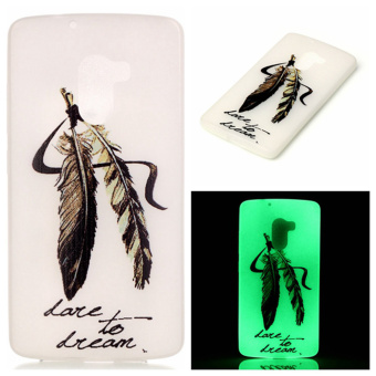 Luminous TPU Phone Case for Lenovo Vibe K4 Note/Vibe X3 Lite - Feather - intl Price Philippines
