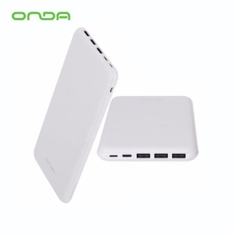 Onda N200T 20000mAh Triple Thin Portable External Battery Power Bank (White) Price Philippines