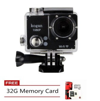 Kogan W9 HD DV 1080P 2.0 Inch 12MP Wifi Action Camera (Black) With 32GB Memory Card Price Philippines