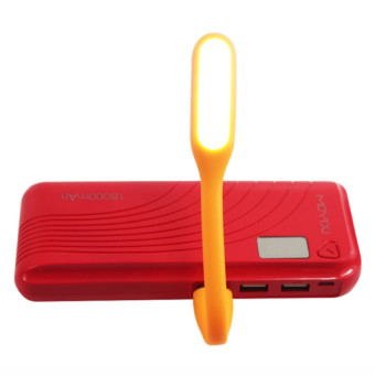 MoYou 18000mAh Power Bank (Red) with Free USB LED Lamp Price Philippines