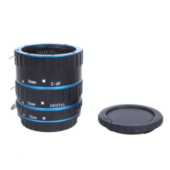 Harga Blue Metal Mount Auto Focus AF Macro Extension Tube/Ring for Kenko Canon EF-S Lens T5i T4i T3i T2i 100D 60D 70D 550D 600D 6D 7D