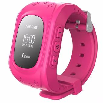 Harga Q50 Smart Phone Watch GPS Anti-Lost Kid Tracker Support Local Sim Card & GPS Function (Pink) - intl