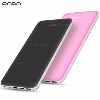 ONDA N200T 20000 mAh Fast-Charger 3.0 Portable Battery Power Bank (Pink) with ONDA N200T 2000mah Powerbank (Dark Gray) Price Philippines