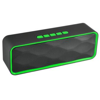 LC Excellent LC-209 Mini Portable Bluetooth Dual Speakers Ultra Bass (Green) Price Philippines