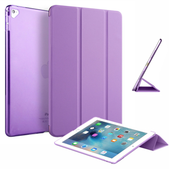 "Slim Tri-fold Case PU Leather Smart Cover for Apple iPad Pro 9.7"" (Purple) Price Philippines"