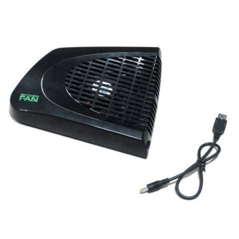 Harga Fang Fang Applied USB Cooler Cooling Fan System Heat Exhauster for Xbox 360 Console Slim (Black)