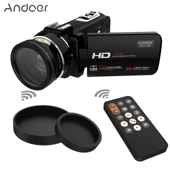 "Andoer HDV-Z20 Portable 1080P Full HD Digital Video Camera with 37mm 0.45? Wide Angle Lens Max 24 Mega Pixels 16? Digital Zoom Camcorder 3.0"" Rotatable LCD Touchscreen with Remote Control Support WiFi Connection Unique Hot Shoe Design Outdoorfree - intl Price Philippines"