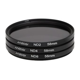 Andoer 58mm Fader ND Filter Kit Neutral Density Photography Filter Set (ND2 ND4 ND8) for Nikon Canon Rebel T5i T4i EOS 1100D 650D 600D DSLRs Price Philippines