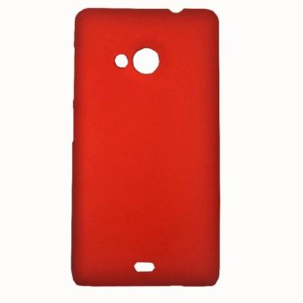 Harga Cases Place Rubberized Hard Case for Microsoft Lumia 535 (Red)