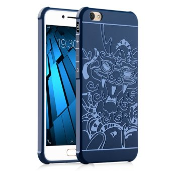 Harga Fashion 3D Dragon Silicone Back Cover Case For VIVO V5 / VIVO Y67 (Blue) - intl