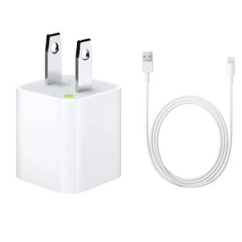 Harga 5W Charger Apple with Lightning Cable for iPhone 5/5c/6/6+/iPad Air / Pro