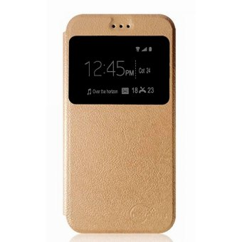 Harga Slim Flip Cover for Vivo V5 (Gold)